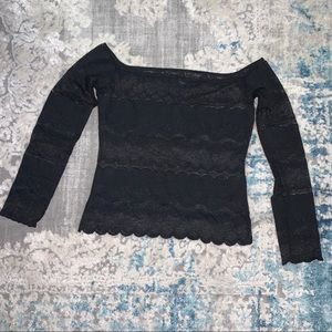 Gianfranco Ferre Lace Off the shoulder top